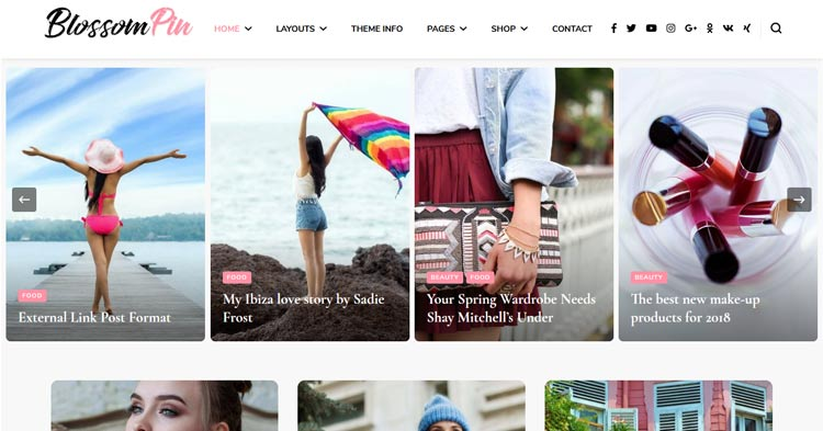 Download Blossom Pin Pro Pinterest Style WP Theme Now!