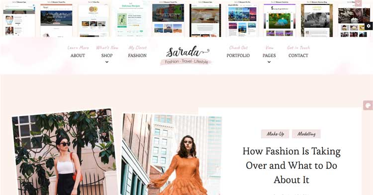 Download Sarada Fashion Lifestyle Blog WP Theme now!