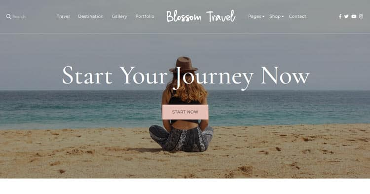 Blossom Travel Pro Lifestyle Blog WordPress Theme