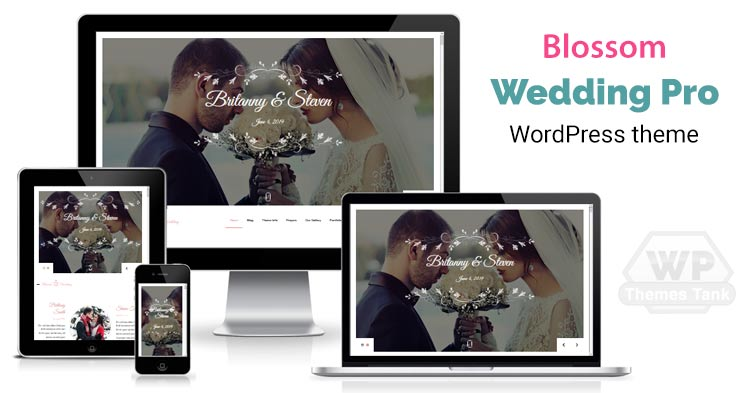 BlossomThemes - Download Blossom Wedding Pro WordPress Theme for Wedding Ceremony / celebration online invitation
