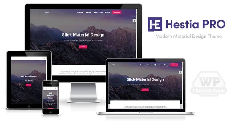 Themeisle - Download Hestia Pro WordPress Material Design Theme for professional websites