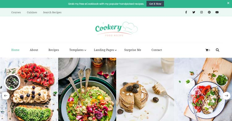 Cookery Lead Generation Recipe WP Theme