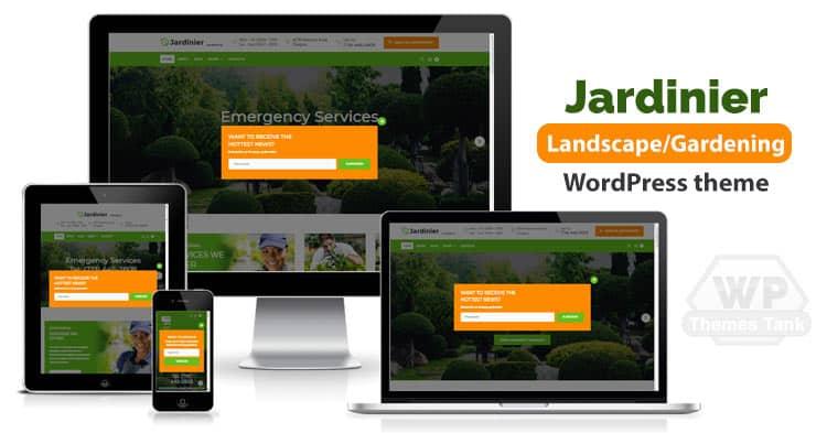Jardinier- Gardening / Landscaping WordPress Theme Download