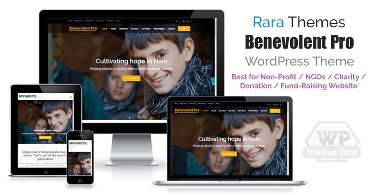 Download RaraThemes - Benevolent Pro WordPress Theme for all charity, Non-profit organization, churches, donation or fund-raising campaign websites
