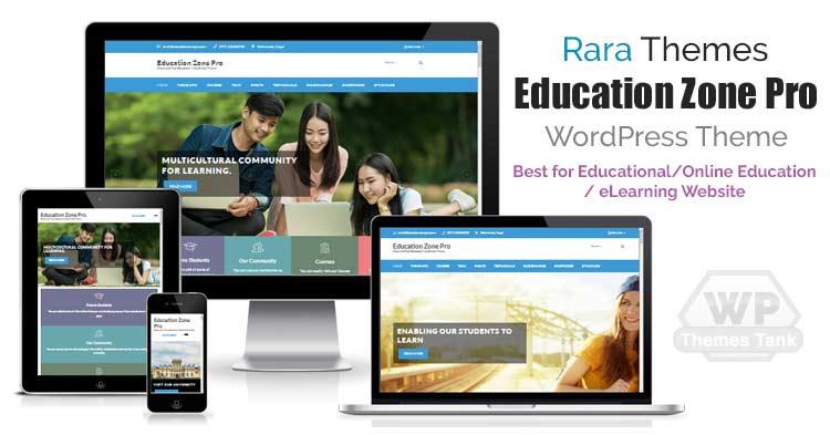 Download RaraThemes - Education Zone Pro WordPress Theme for Educational Institute / School / College websites