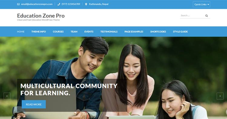 Download Education Zone Pro Academic WP Theme Now!