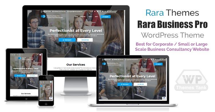 Download RaraThemes - Rara Business Pro WordPress Theme for all types of Business / Corporate websites
