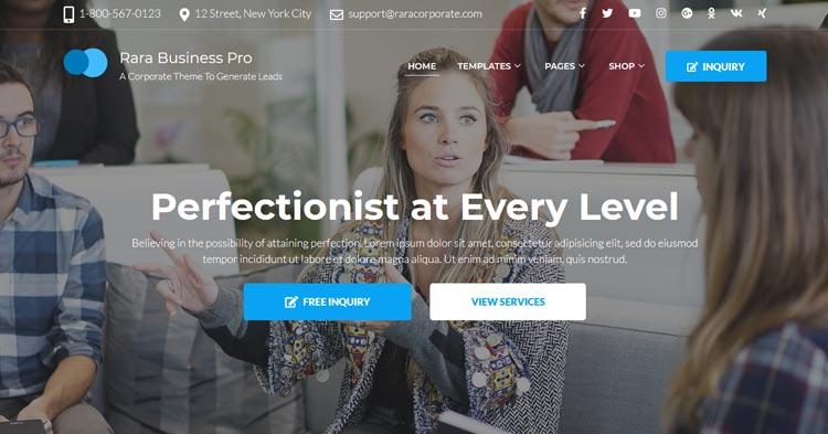 Download Rara Business Pro WordPress Theme now!