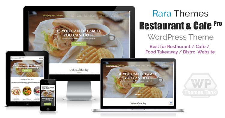 RaraThemes - Download Restaurant And Cafe Pro WordPress theme for restaurant, cafe, bistro and food services website