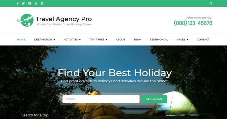 Download Travel Agency Pro WordPress Theme Now!