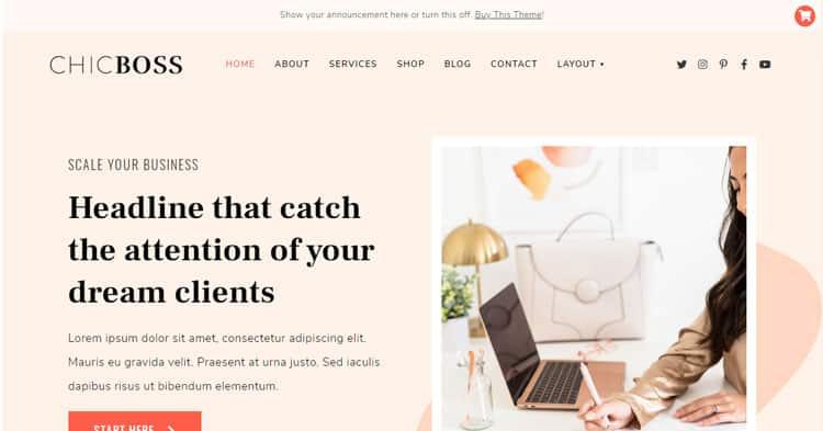 Download ChicBoss Digital Biz Owners WordPress Theme Now!