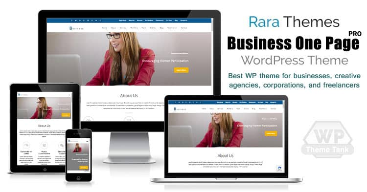 Download RaraThemes - Business One Page Pro WordPress Theme for all types of Business / Corporate websites