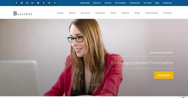 Business One Page Pro WordPress Theme