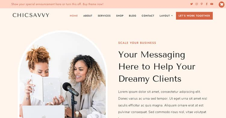 Download ChicSavvy Business Coaches WordPress Theme now!