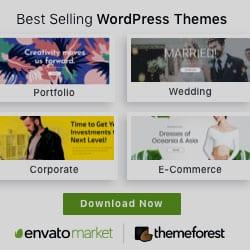 Envato Marketplace - ThemeForest Best selling WordPress templates