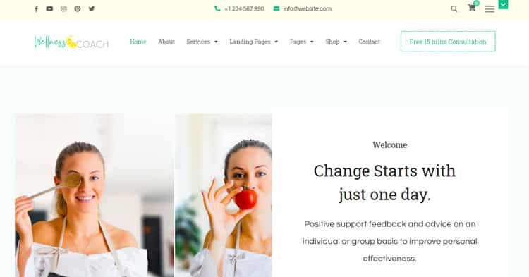 Wellness Coach Personal Trainer WP Theme