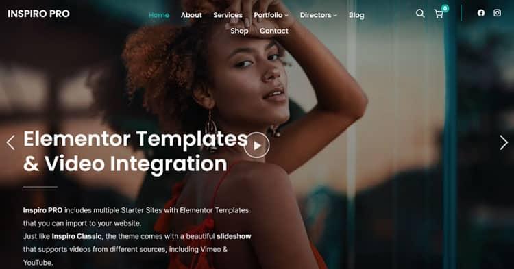 Inspiro Pro Elementor Portfolio WordPress Theme